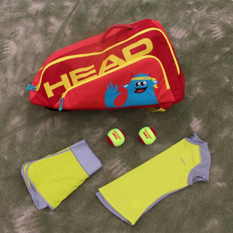 Head Combi Novak Bag Junior - Red/Yellow
