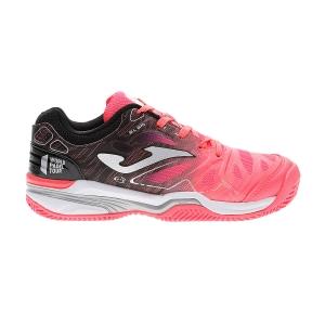 Junior's Padel Shoes Joma Slam Girl  Coral/Black J.SLALW907