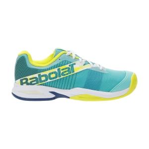 Junior's Padel Shoes Babolat Jet Premura Junior  Green/Sulphur Spring 33S217568004