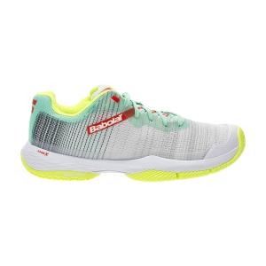 Women's Padel Shoes Babolat Jet Ritma  Grey/Spring Bouquet 31S217533023
