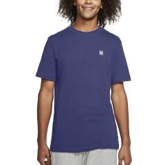 Nike Court T-Shirt - Dark Purple/Dust/White