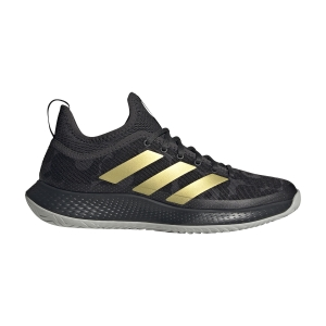 Women's Padel Shoes Adidas Defiant Generation  Carbon/Core Black/Gold Met H69209