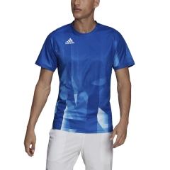 adidas Freelift Tokyo T-Shirt - Collegiate Royal/White