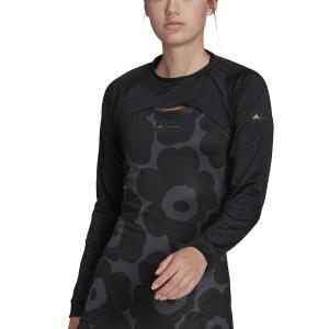 Women's Padel Shirts & Hoodies adidas Marimekko Shrug  Black/Gold Met GT6000