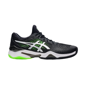 Men's Padel Shoes Asics Court FF 2 Clay  Black/Green Gecko 1041A082005