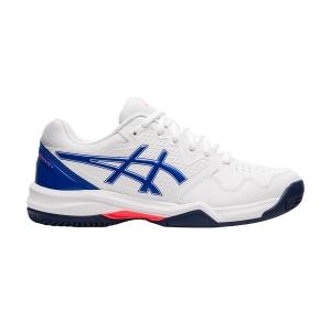 Women's Padel Shoes Asics Gel Dedicate 7 Clay  White/Lapis Lazuli Blue 1042A168101