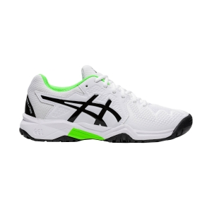 Junior's Padel Shoes Asics Gel Resolution 8 Clay GS Junior  White/Green Gecko 1044A019105