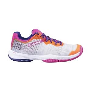 Women's Padel Shoes Babolat Jet Ritma  Grey/Pink Peacock 31F217533024