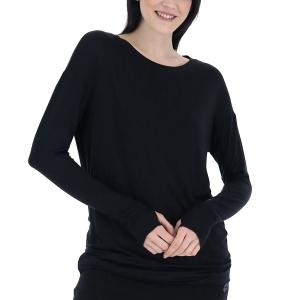 Women's Padel Shirts & Hoodies Lotto Dinamico Shirt  All Black 2168041CL