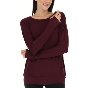 Women's Padel Shirts & Hoodies Lotto Dinamico Shirt  Vineyard/Dark Red 2168046T9