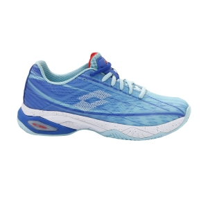 Women's Padel Shoes Lotto Mirage 300 Clay  Clearwater/All White/Amparo Blue 21074087W