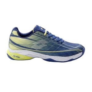 Men's Padel Shoes Lotto Mirage 300 Clay  Sodalite Blue/All White/Yellow Neon 21073387U