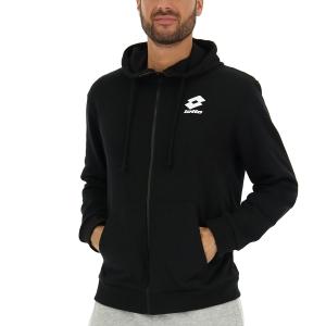 Men's Padel Shirt and Hoody Lotto Smart II Hoodie  All Black 2144711CL