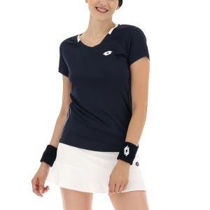 Women's Padel T-Shirt and Polo Lotto Squadra II TShirt  All Black 2154341CL