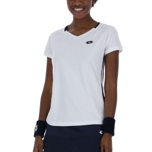 Women's Padel T-Shirt and Polo Lotto Squadra II TShirt  Bright White 2154340F1