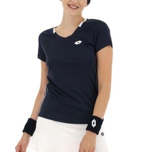 Women's Padel T-Shirt and Polo Lotto Squadra II TShirt  Navy Blue 2154341CI