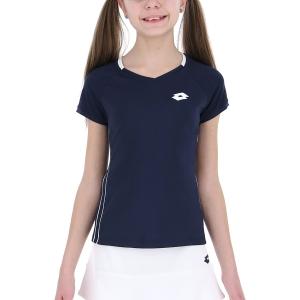 Girl's Padel Tanks and Shirts Lotto Squadra TShirt Girl  Navy Blue 2154431CI