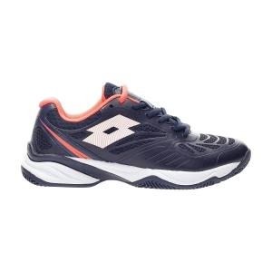 Women's Padel Shoes Lotto Superrapida 200 PRT  Navy Blue/All White/Coral Fluo 21561689U