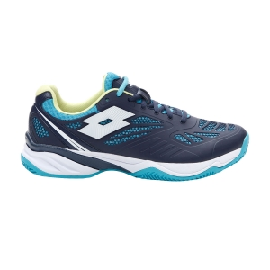 Women's Padel Shoes Lotto Superrapida 200 PRT  Navy Blue/All White/Scuba Blue 2156167FN