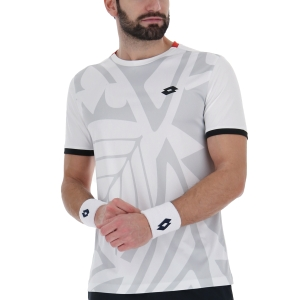 Men's T-Shirt Padel Lotto Top Ten III Graphic TShirt  Bright White/Glacier Gray 21544953Q