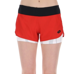 Women's Padel Skirts and Shorts Lotto Top Ten III 3in Shorts  Flame Red 2154280C4