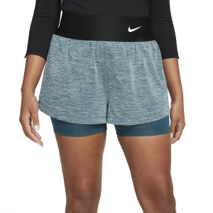 Women's Padel Skirts and Shorts Nike Court Advance Classic 2in Shorts  Dark Teal Green/White CV4792393