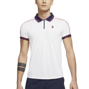Men's Padel Polo Nike Court DriFIT ADV Slam Polo  White/Binary Blue/University Red DA4325100