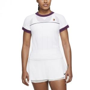 Women's Padel T-Shirt and Polo Nike Court DriFIT Slam TShirt  White DC9462100