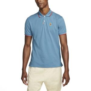 Men's Padel Polo Nike DriFIT Heritage Polo  Rift Blue/Cinnabar DA4379415