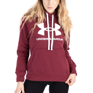 Women's Padel Shirts & Hoodies Under Armour Rival Logo Hoodie  League Red/White 13563180626
