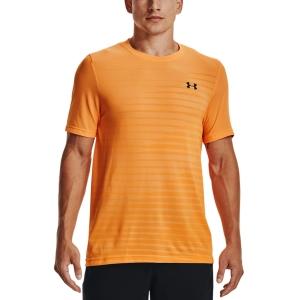 Men's T-Shirt Padel Under Armour Seamless Fade TShirt  Omega Orange/Black 13611330857