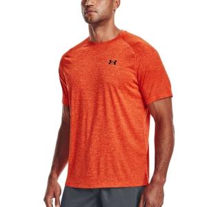 Men's T-Shirt Padel Under Armour Tech 2.0 TShirt  Phoenix Fire/Black 13264130296